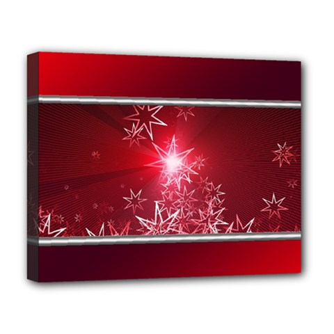 Christmas Candles Christmas Card Deluxe Canvas 20  X 16