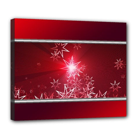 Christmas Candles Christmas Card Deluxe Canvas 24  X 20   by BangZart