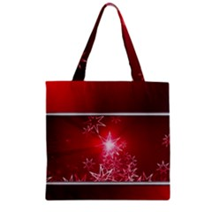 Christmas Candles Christmas Card Zipper Grocery Tote Bag