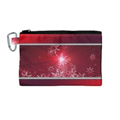 Christmas Candles Christmas Card Canvas Cosmetic Bag (medium) by BangZart