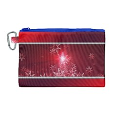 Christmas Candles Christmas Card Canvas Cosmetic Bag (large)