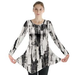 Pattern Structure Background Dirty Long Sleeve Tunic  by BangZart