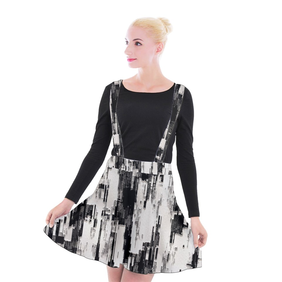 Pattern Structure Background Dirty Suspender Skater Skirt | CowCow