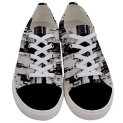 Pattern Structure Background Dirty Women s Low Top Canvas Sneakers