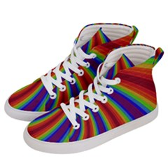 Abstract Pattern Lines Wave Men s Hi-top Skate Sneakers by BangZart