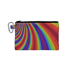 Abstract Pattern Lines Wave Canvas Cosmetic Bag (small) by BangZart