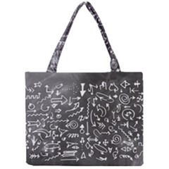 Arrows Board School Blackboard Mini Tote Bag by BangZart