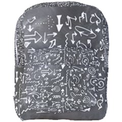Arrows Board School Blackboard Full Print Backpack by BangZart