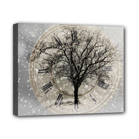 Snow Snowfall New Year S Day Canvas 10  X 8  by BangZart