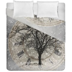 Snow Snowfall New Year S Day Duvet Cover Double Side (california King Size) by BangZart