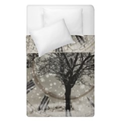 Snow Snowfall New Year S Day Duvet Cover Double Side (single Size) by BangZart