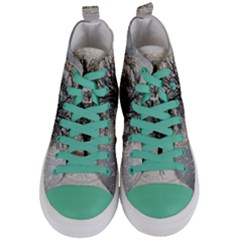 Snow Snowfall New Year S Day Women s Mid Top Canvas Sneakers
