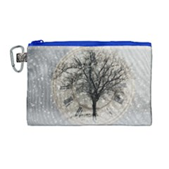 Snow Snowfall New Year S Day Canvas Cosmetic Bag (large) by BangZart