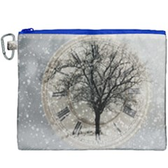 Snow Snowfall New Year S Day Canvas Cosmetic Bag (xxxl) by BangZart