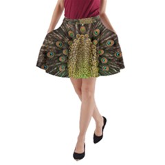 Peacock Feathers Wheel Plumage A Line Pocket Skirt by BangZart