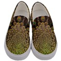 Peacock Feathers Wheel Plumage Men s Canvas Slip Ons View1