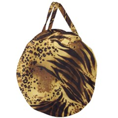 Pattern Tiger Stripes Print Animal Giant Round Zipper Tote