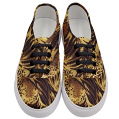 Pattern Tiger Stripes Print Animal Women s Classic Low Top Sneakers