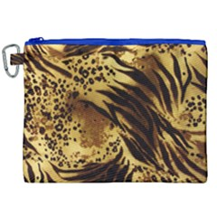 Pattern Tiger Stripes Print Animal Canvas Cosmetic Bag (xxl)