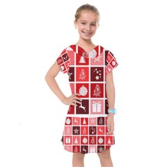 Christmas Map Innovative Modern Kids  Drop Waist Dress