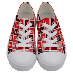 Christmas Map Innovative Modern Kids  Low Top Canvas Sneakers
