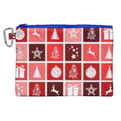 Christmas Map Innovative Modern Canvas Cosmetic Bag (xl)