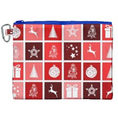 Christmas Map Innovative Modern Canvas Cosmetic Bag (xxl)