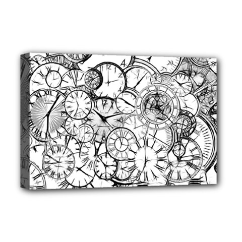 Time Clock Watches Time Of Deluxe Canvas 18  X 12
