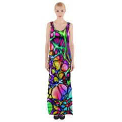 Network Nerves Nervous System Line Maxi Thigh Split Dress by BangZart