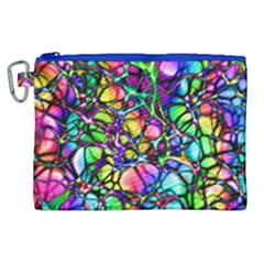 Network Nerves Nervous System Line Canvas Cosmetic Bag (xl)