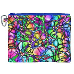 Network Nerves Nervous System Line Canvas Cosmetic Bag (xxl)