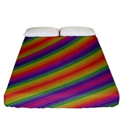 Spectrum Psychedelic Fitted Sheet (california King Size)