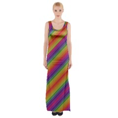 Spectrum Psychedelic Maxi Thigh Split Dress