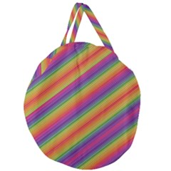 Spectrum Psychedelic Giant Round Zipper Tote