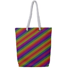 Spectrum Psychedelic Full Print Rope Handle Tote (small) by BangZart