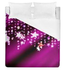 Background Christmas Star Advent Duvet Cover (queen Size) by BangZart