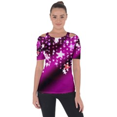Background Christmas Star Advent Short Sleeve Top