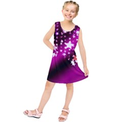 Background Christmas Star Advent Kids  Tunic Dress