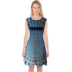 Data Computer Internet Online Capsleeve Midi Dress