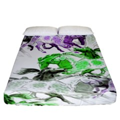 Horse Horses Animal World Green Fitted Sheet (california King Size)
