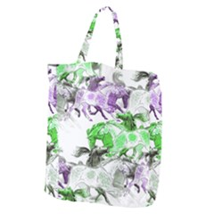 Horse Horses Animal World Green Giant Grocery Zipper Tote