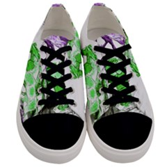 Horse Horses Animal World Green Men s Low Top Canvas Sneakers