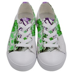 Horse Horses Animal World Green Kids  Low Top Canvas Sneakers