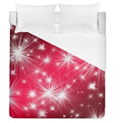 Christmas Star Advent Background Duvet Cover (queen Size) by BangZart