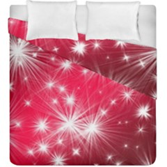 Christmas Star Advent Background Duvet Cover Double Side (king Size) by BangZart