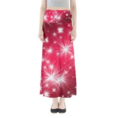 Christmas Star Advent Background Full Length Maxi Skirt by BangZart
