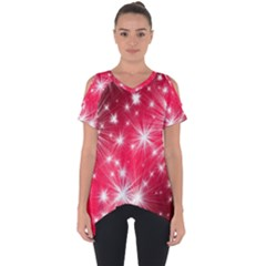 Christmas Star Advent Background Cut Out Side Drop Tee by BangZart