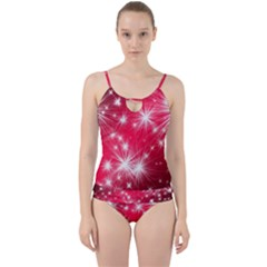 Christmas Star Advent Background Cut Out Top Tankini Set