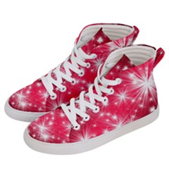 Christmas Star Advent Background Men s Hi-top Skate Sneakers by BangZart