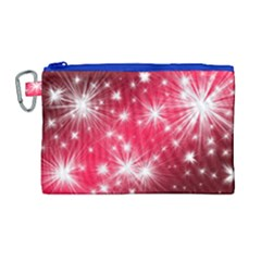 Christmas Star Advent Background Canvas Cosmetic Bag (large)